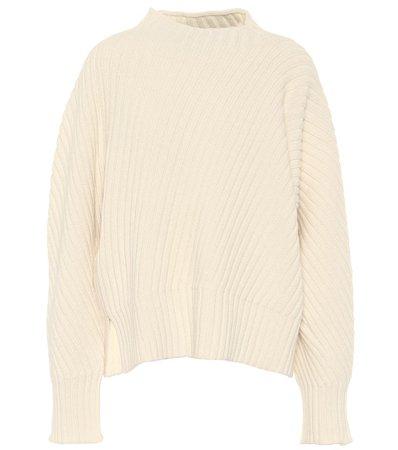 Jil Sander, Oversized ribbed-knit wool sweater