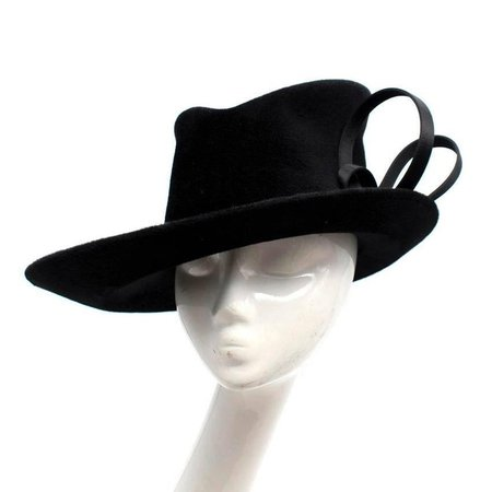 philip treacy $906 bespoke black top hat