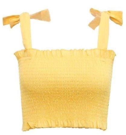 Yellow Ribbon Crop Top