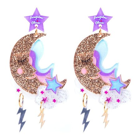 Over The Moon Earrings - Jewellery - Accessories | Irregular Choice