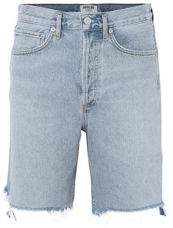 AGOLDE - '90s Distressed Denim Shorts - Light denim