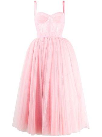 Dolce & Gabbana Tulle Midi Dress Ss20   Farfetch.com