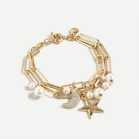 J.Crew: Celestial Charm Layered Bracelet For Women