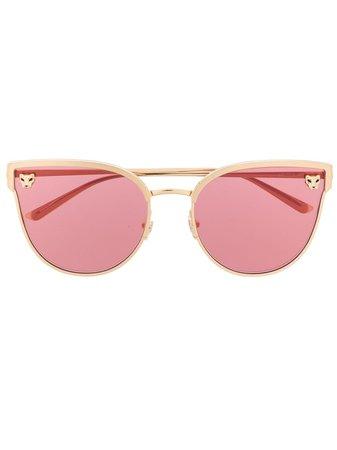 Cartier Eyewear Panthère De Cartier cat-eye Frame Sunglasses - Farfetch