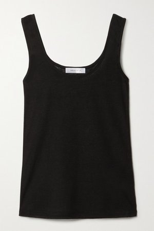 Gemma Ribbed Jersey Tank - Black