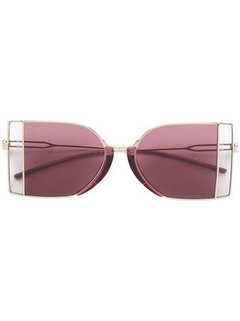 Calvin Klein 205W39nyc two-tone Sunglasses - Farfetch