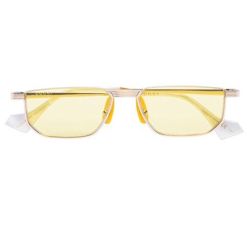 Gucci Eyewear (slim rectangle sunglasses)