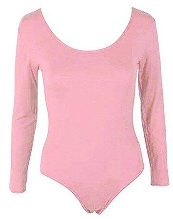 Hot Hanger Womens PLUS SIZE Long Sleeve Bodysuit Leotard Body Top UK 16-28 at Amazon Women's Clothing store