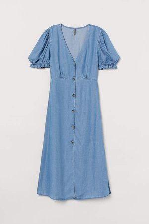 Lyocell Denim Dress - Blue