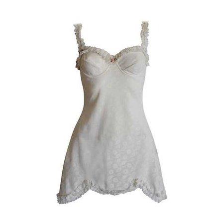 white dainty dress