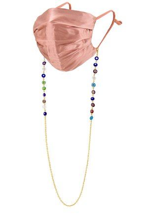 petit moments Beaded Mask Chain in Multi | REVOLVE