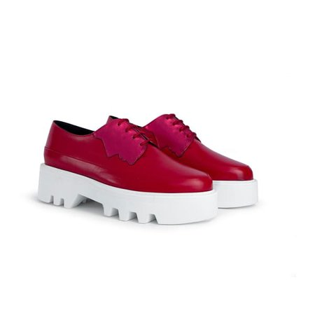 2 Faced - Magenta/Red Leather Platform Creepers | Unreal Fields | Wolf & Badger