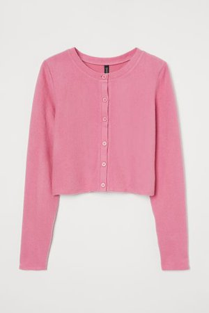 Short Cardigan - Pink - Ladies   H&M US
