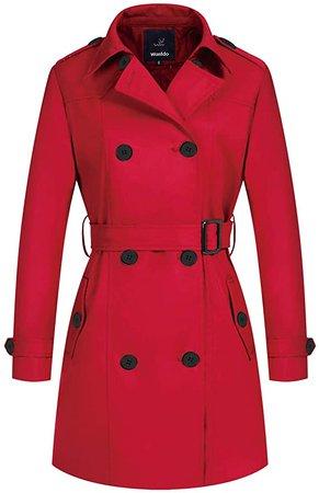 Wantdo Women's Winter Coats Long Trench Jacket with Belt