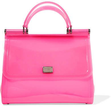 Sicily Large Neon Pvc Tote - Pink