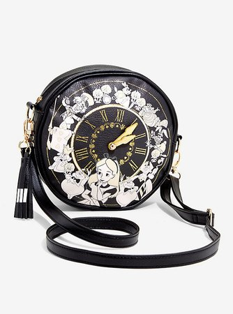 Loungefly Disney Alice In Wonderland Clock Crossbody Bag