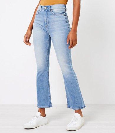 The High Waist Kick Crop Jean in Classic Indigo Wash