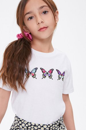 Girls Butterfly Graphic Tee (Kids) | Forever 21