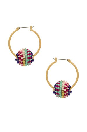 Blair Beaded Ball Hoop Earrings