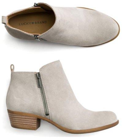light grey booties