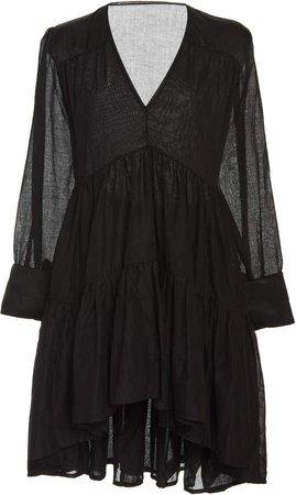 Vega Pleated Cotton Tunic Dress