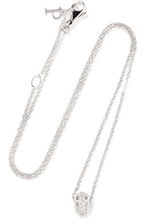 Piaget | Possession 18-karat white gold diamond necklace | NET-A-PORTER.COM
