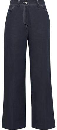 Sapphire Cotton-blend Twill Wide-leg Pants