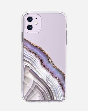 Light Purple Agate Clear Case iPhone 11 | Casery