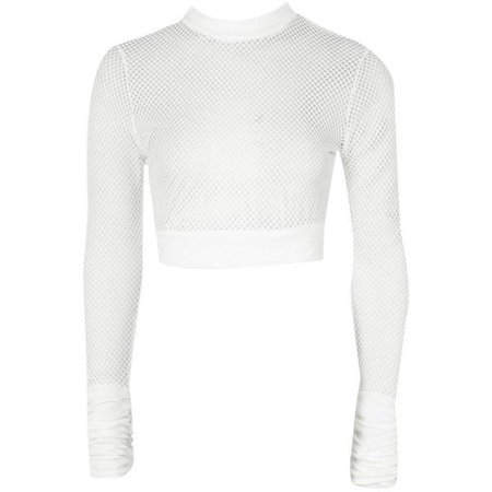 Boohoo Monica Fishnet Mesh Crop ($12)