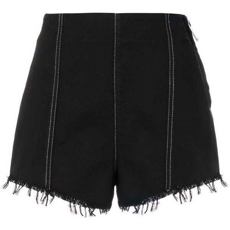 MSGM denim high waist shorts