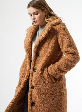 Neutral Long Teddy Coat
