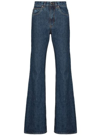 Shop blue Etro high-rise flared jeans with Express Delivery - Farfetch