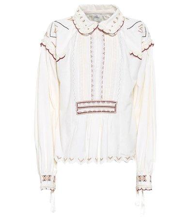 Etro - Embroidered cotton blouse | Mytheresa