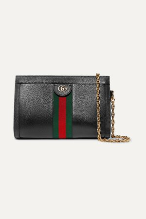 Black Ophidia textured-leather shoulder bag | Gucci | NET-A-PORTER