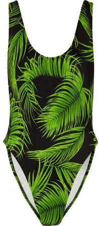 Marissa Printed Swimsuit - Green