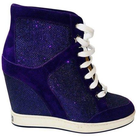 Indigo Sneaker Wedges [blue-purple]