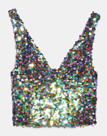 sequinned cropped top