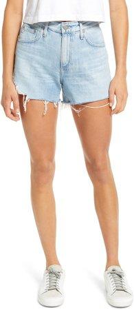 Hailey High Waist Cutoff Denim Shorts