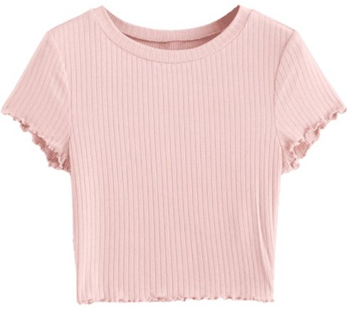 light pink cropped t shirt