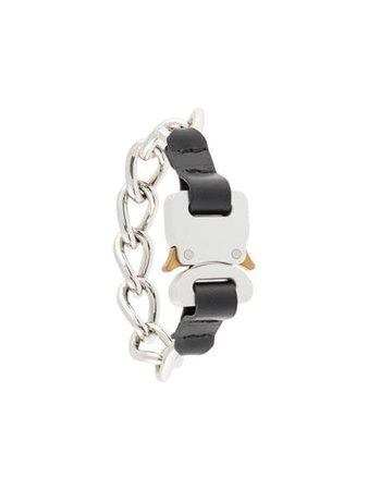 Black & silver 1017 ALYX 9SMchain link bracelet- Farfetch