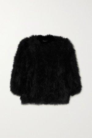 Black Feather jacket | Yves Salomon | NET-A-PORTER