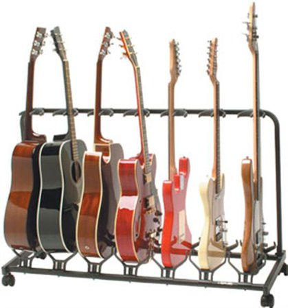 Quik-Lok 7-Slot Electric/Acoustic Guitar Stand