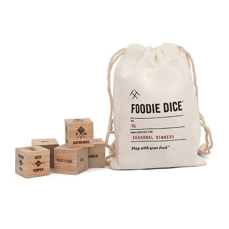Foodie Dice | fun cooking games, dinner ideas | UncommonGoods