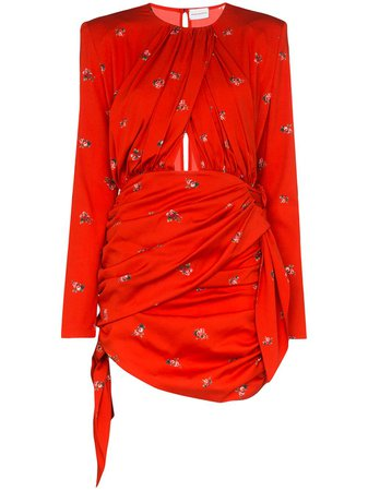 Magda Butrym San Remo floral-print stretch-silk Mini Dress - Farfetch