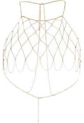 River Island River Island Womens Gold tone rhinestone ladder harness body chain | ShopLook