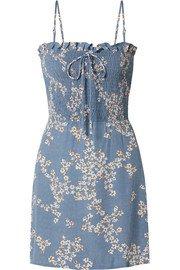 Faithfull The Brand   Farah tie-detailed floral-print crepe midi dress   NET-A-PORTER.COM