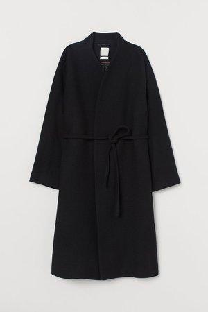 Wool-blend Coat - Black