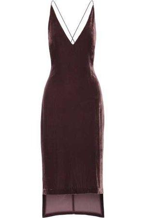 Dion Lee | Asymmetric velvet midi dress | NET-A-PORTER.COM
