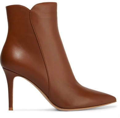 Levy 85 Leather Ankle Boots - Tan