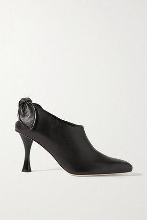 Knotted Leather Pumps - Black